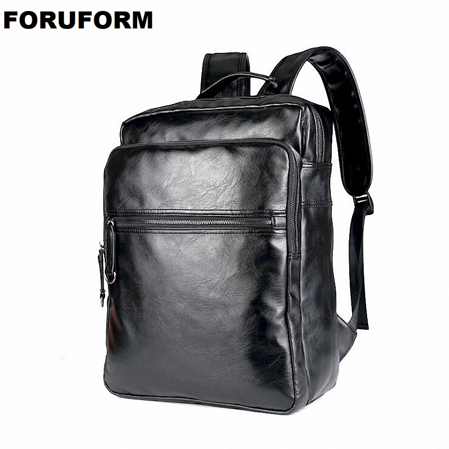 Men Leather Backpack High Quality Youth Travel Rucksack School Book Bag Male Laptop Business Bagpack Mochila Shoulder Bag LI2135 men original leather fashion travel university college school book bag designer male backpack daypack student laptop bag 9950