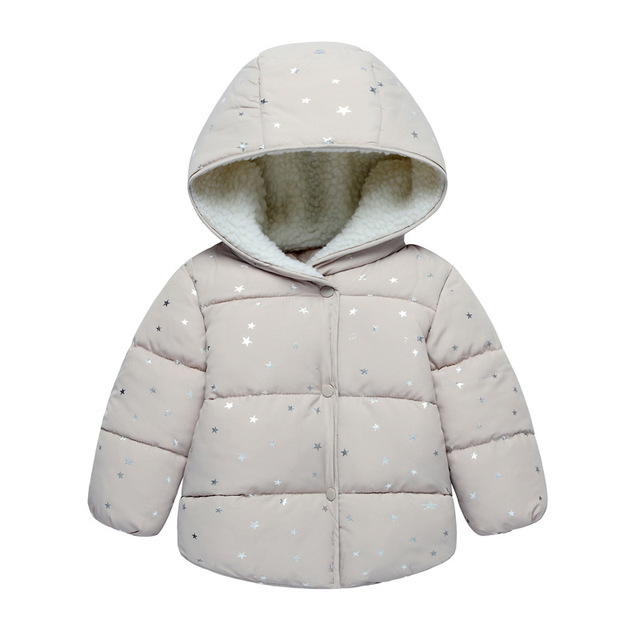 067ed917caa1 BibiCola Winter Girls Jacket Children Boy Hooded Outerwear baby Boys Girls  Fleece Velvet Warm Children hoddy Clothing jackets
