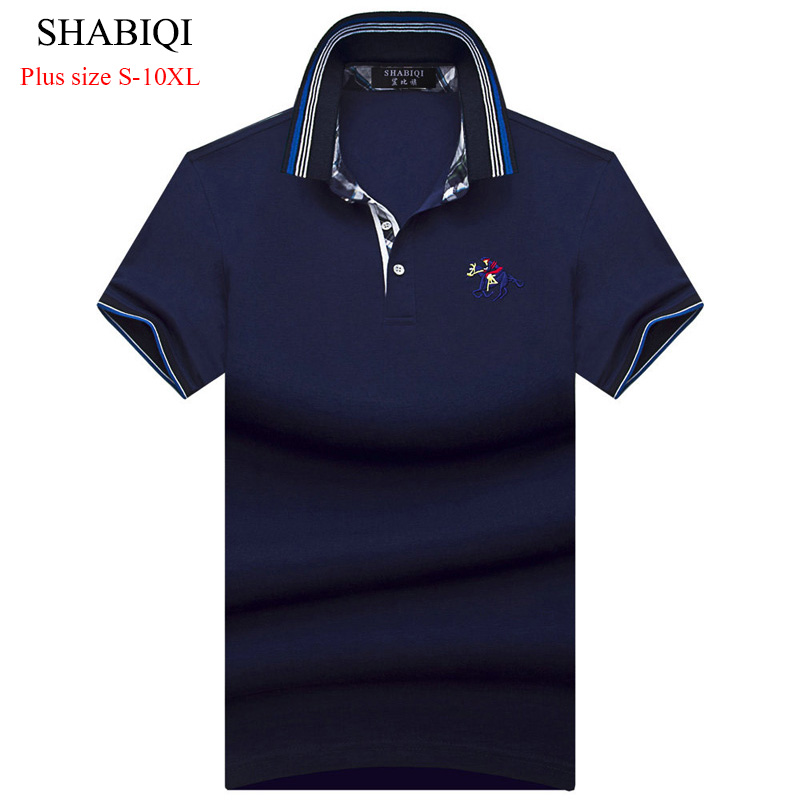 2019 SHABIQI New Match Colors Collar Men   POLO   Shirts Summer Style Short Sleeve Shirts Camisas   Polo   Plus Size 6XL 7XL 8XL 9XL10XL