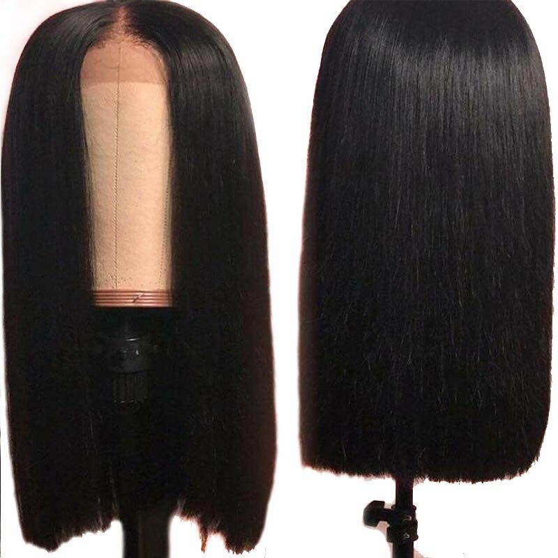 Deep Part 13 6 Lace Front Human Hair Bob Wig Straigtht 180 Density Short Brazilian Frontal