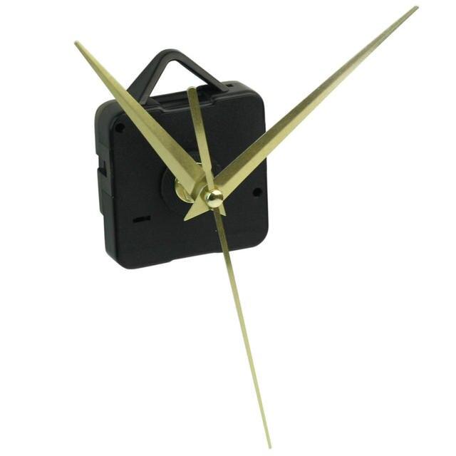 Quartz noir horloge murale mouvement mécanisme bricolage réparation pièces Kit avec or heure Minute secondes mains décor à la maison