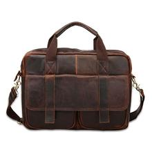 Soft Maletin Hombre Real Cowhide Leather Men Bags Vintage Handbags Briefcase Laptop Shoulder Cross Body Messenger Business Tote