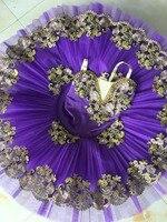 2017 New Adult Purple Ballet Tutu Performance Professional Classical Ballet Tutus Girls Pancake Tutu Nutcracker