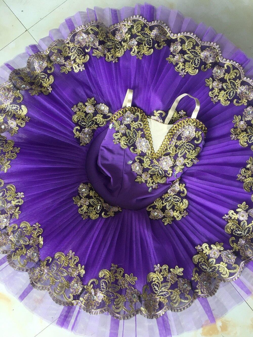 2017 nouveau adulte violet Ballet Tutu performance professionnel classique ballet tutus filles crêpe tutu casse-noisette