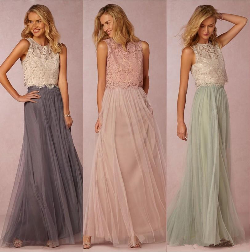 Buy cheap lace two piece bridesmaid dress for Wedding dresses 2 piece