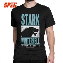 Game Of Thrones T-Shirt for Men House Stark Winterfell Jon Snow Short Sleeve Cool Tees O Neck Cotton Clothes Summer T Shirt цена и фото