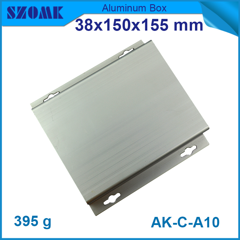 1 pcs/lot free shipping silver aluminum box, wall -mounting enclosure for electronics and component  with smooth surface 2 pcs lot free shipping wall mounting plastic abs enclosure for pcb electronics device 110 70 38mm