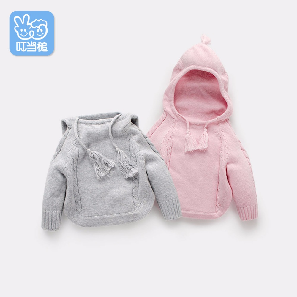 Dinstry meleg tavaszi ruházat kapucnis aranyos divat baba - Gyermekruházat - Fénykép 1