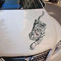 Fierce Tiger Totem Design Car Hood Decor Stickers And Decals For KIA FORD BMW HONDA Fashion