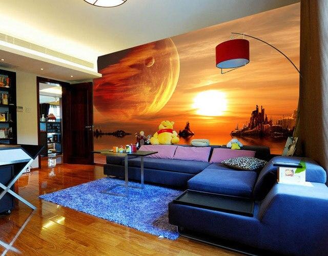 Schöne Sternenhimmel Tv Hintergrund Wand Große Mural Tapete - Schlafzimmer sternenhimmel