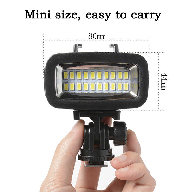 Image 2 - Orsda LED Flash Light Underwater Diving light Waterproof Video light Fill in Lamp For GoPro hero7 SJCAM SJ4000 H9 H9R xiaomi Yi-in Sports Camcorder Cases from Consumer Electronics