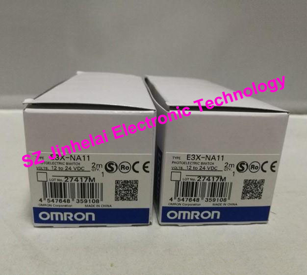 100% New and original E3X-NA11, E3X-ZD41   OMRON Photoelectric switch  12-24VDC   2M [zob] 100% new original omron omron photoelectric switch e3s vs1e4 e3zm v61 2m substitute
