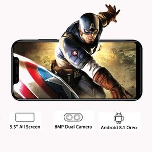 "Image 3 - Blackview המקורי A30 2GB + 16GB 5.5 ""Smartphone 19:9 מלא מסך MTK6580A Quad Core אנדרואיד 8.1 ה SIM הכפול פנים מזהה נייד טלפון"