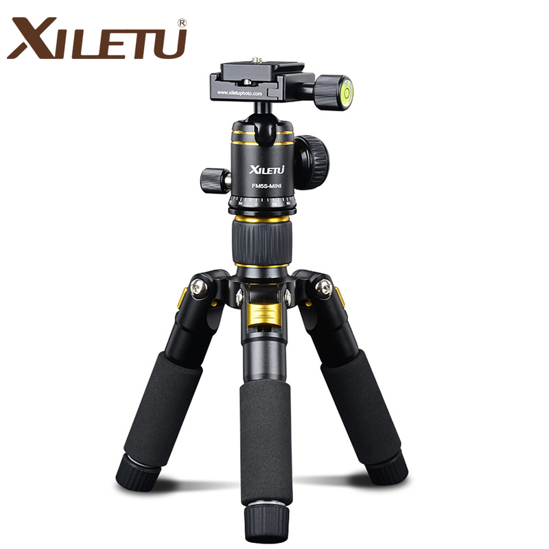 Фотография XILETU FM5S-MINI Lightweight Desktop Tripod with 360 degree Ballhead &Protect Bag for Canon Nikon Sony Olympus DSLR Camera