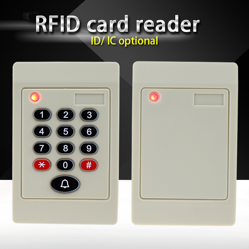 New Arrival RFID Smart card reader 125KHz/13.56MHz ISO14443A RFID MF waterproof access control reader with keypad Free shipping original access control card reader without keypad smart card reader 125khz rfid card reader door access reader manufacture