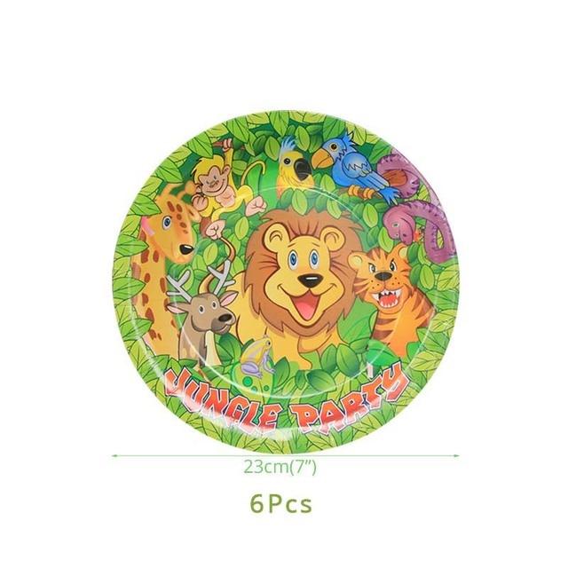 6pcs 7inch plates Monkey 1st birthday decorations 5c64f9ae5e140