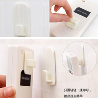 1 Pair Portable Home Adhesive Remote Control Wall Hooks Holder Sticky Hook