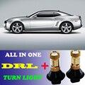 2 * Двойной Цвет 1156 BAU15S PY21W LED DRL Дневные Ходовые Огни и Указатель Поворота С Canbus Ошибка Бесплатно Для Chevrolet Camaro 2010-13