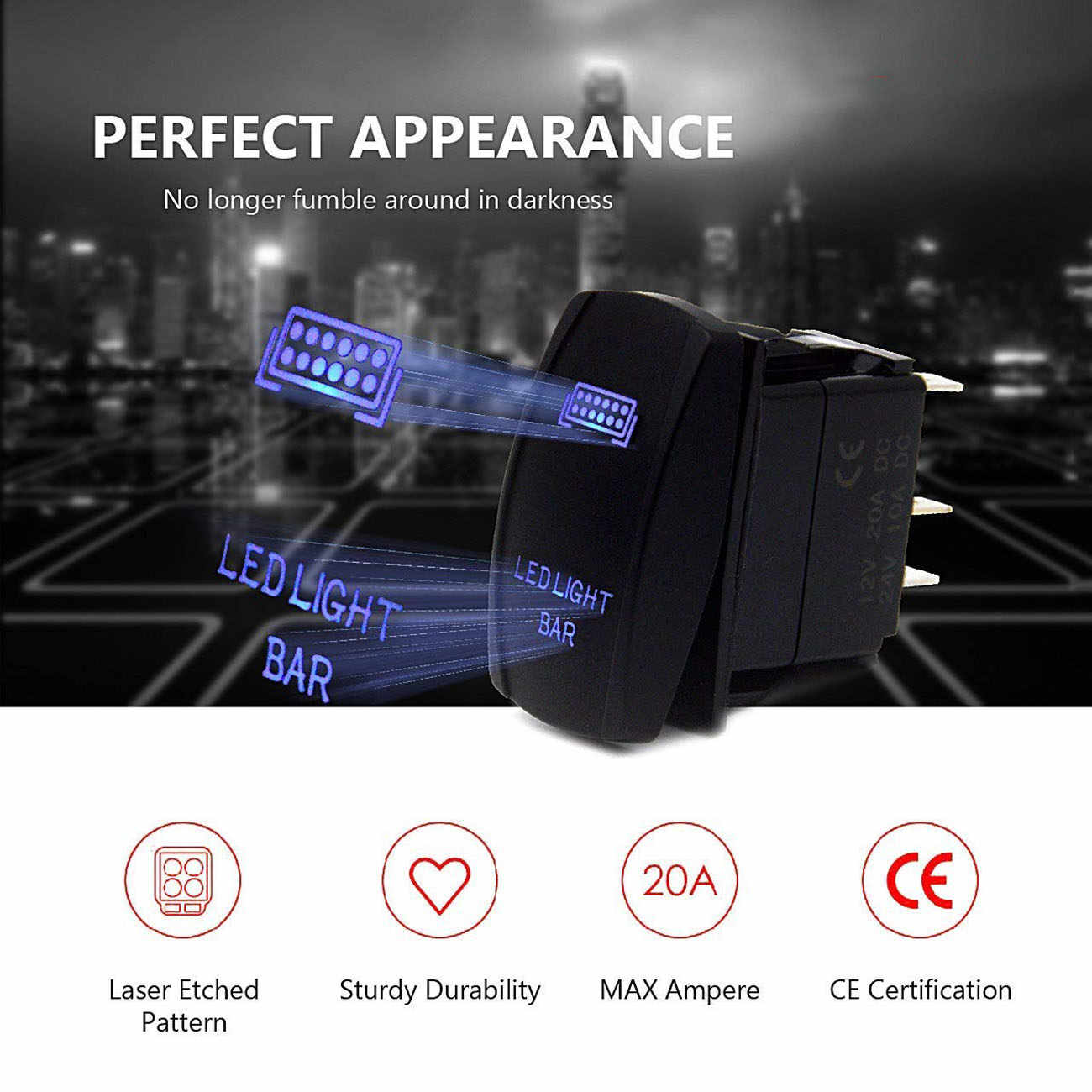 hight resolution of detail feedback questions about rocker switch panel led light bar led toggle switch wiring round rocker switch 12v led prewired in