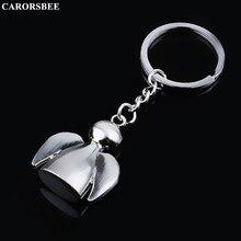 цена на More style Car accessories Angel Metal Key Chain Motorcycle Keychain Auto Key Rings for mom Gift Keyfob for mini kawasaki nissan