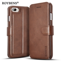 Roybens High Quality PU Leather Case For IPhone 7 IPhone 7 Plus Stand Wallet Card Slot