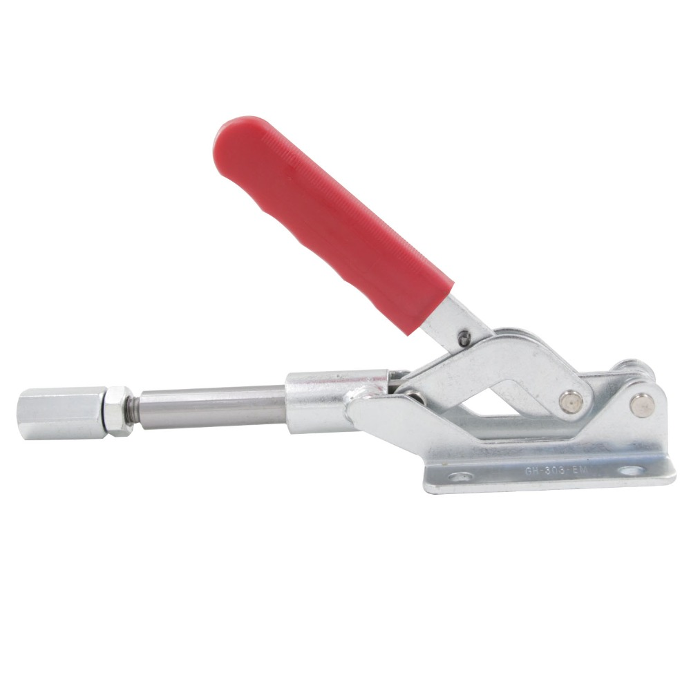 GH-303-EM Quick Hand Tool Toggle Clamp Metal 50mm Plunger Stroke Pull Push Holding Capacity 454 kg Fixture Clamp цены онлайн