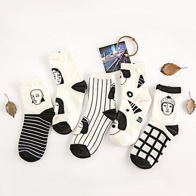 Wholesale 2015 hot fashion Korean cartoon cute Japanese women picture cotton cozy womens socks chaussette meias femininas sokken