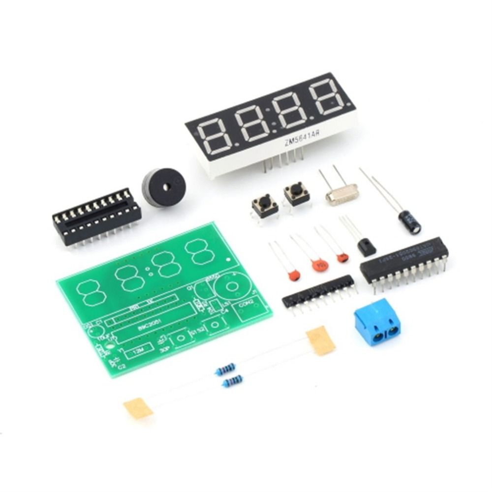 YSZ-4 3V-6V C51 4 Bits Digital Electronic Clock Electronic Production Suite DIY Kit Two Alarm Settings Whole Point Of Time