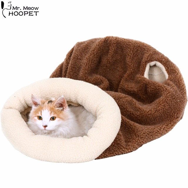 ed82ee2dde4c Pet Cat Self-Warming Soft Sleeping Bag Kitten Cozy Cave Snuggle Sack Bed  Kitty Mat Cushion Cuddle Pouch for Burrower Pets