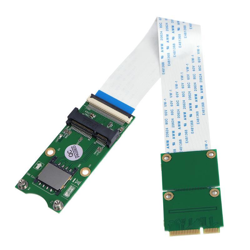 Mini PCI-E X mSATA Flessibile Extender Cable Wire con Slot Per Schede SIM Pin msata cavo di prolunga per WindowsXP/7/8/10Mini PCI-E X mSATA Flessibile Extender Cable Wire con Slot Per Schede SIM Pin msata cavo di prolunga per WindowsXP/7/8/10