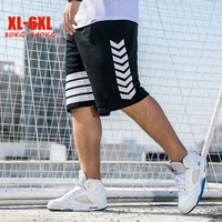 2019 sports shorts men plus size summer casual fitness shorts men big size hip hop striped men short pants XL 6XL