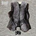 Черный искусственной кожи жилет длинный мех декор кожа куртка женщин меховой воротник декор зима жилет colete chalecos mujer LT1071