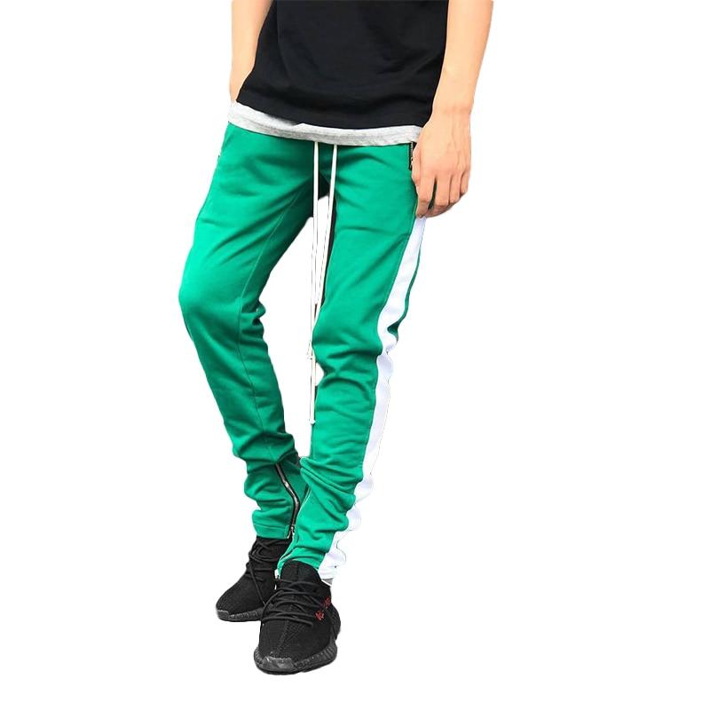 Casual Pants Joggers Legging Leg-Trousers Fitness Loose Zipper Workout Fashion Stitching