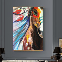 100% Hand Painted Abstract Horse Head Art Painting On Canvas Wall Art Wall Adornment Picture Painting For Living Room Home Decor