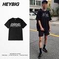 Comportamiento antisocial de Los Jóvenes hip hop T-shirt 2017 nuevo resorte HEYBIG ver. marca tees tamaño Asiático! los hombres Camisas de algodón de manga corta