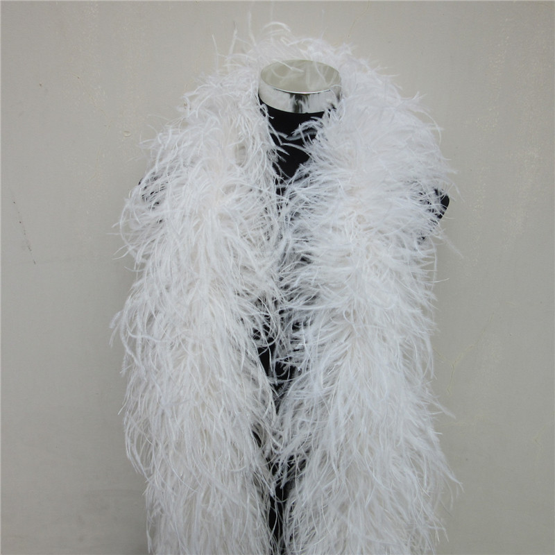 4 Meters 6Layers Quality sapphire natural Ostrich Feather Boa Costumes/Trim for Party/Costume/Shawl Ostrich Feather Available