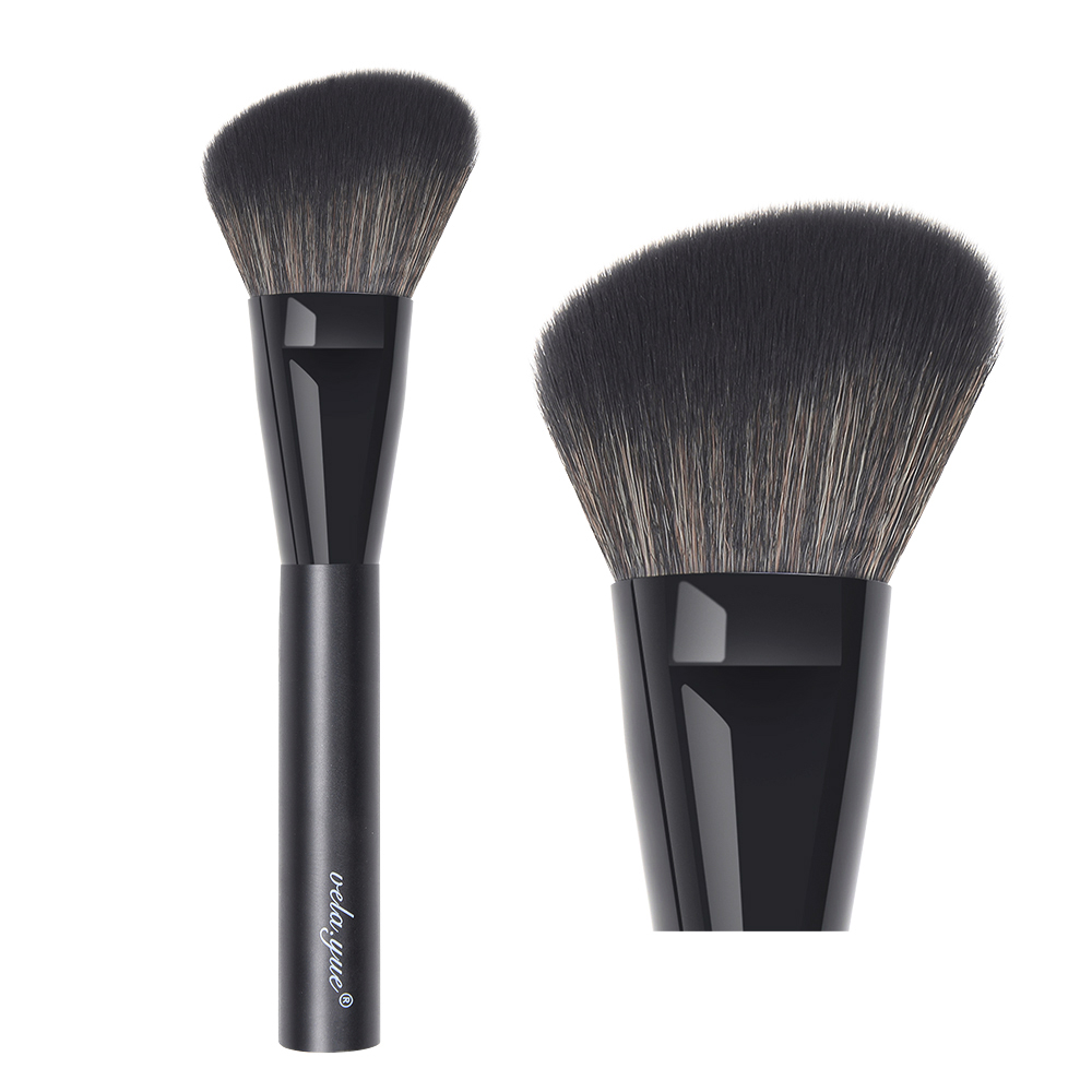 все цены на vela.yue Large Angled Blush Brush Face Powder Blusher Bronzer Highlighter Sculpting Contour Makeup Brush