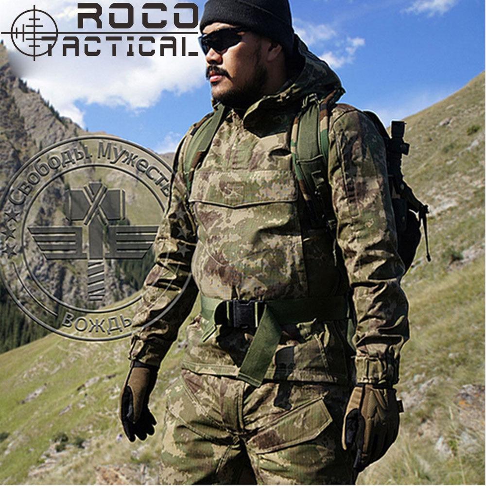 Para hombre del camuflaje táctico camuflaje traje táctico militar uniforme de combate CS Airsoft Camo traje