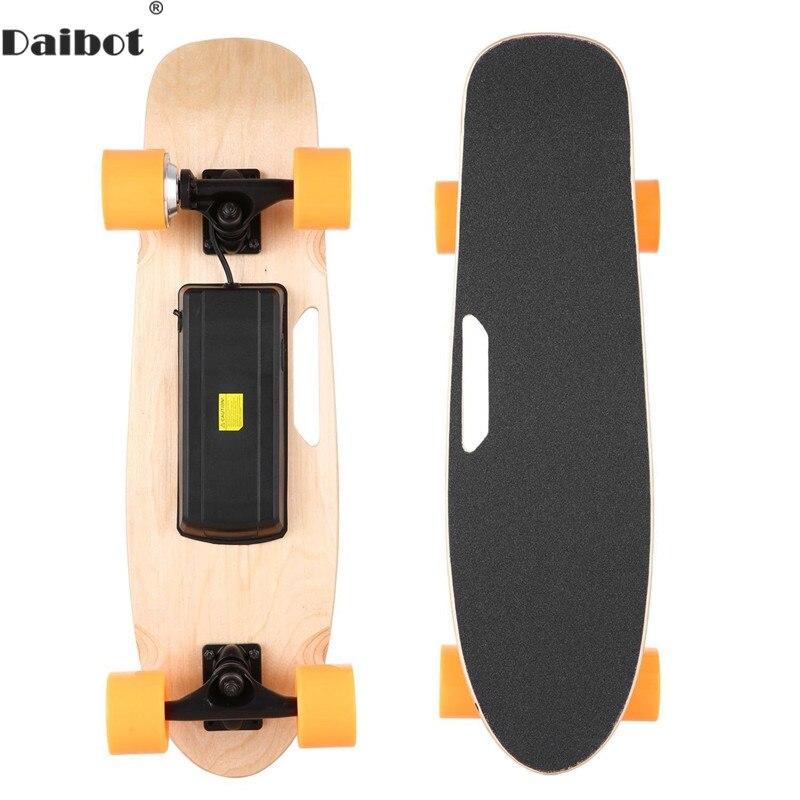 Daibot Skateboard électrique Mini quatre roues Scooters électriques moteur 150W 24V télécommande Portable enfant coup de pied Scooter