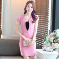 New spring and summer short-sleeved career suits ladies skirt suits OL Slim overalls studio