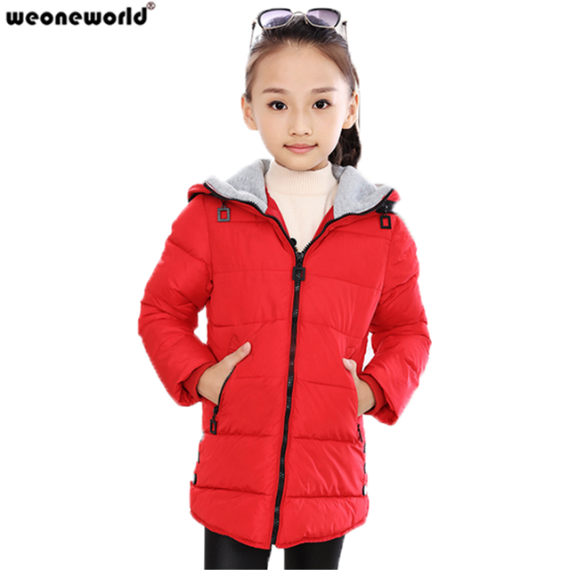 fd446cf16869 WEONEWORLD New Autumn Winter Children Down Coat Girls Outerwear Kids ...