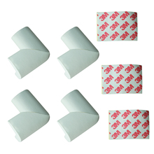4 x BABY SAFETY CORNER CUSHIONS – DESK TABLE COVER PROTECTOR – SAFE FOR CHILD