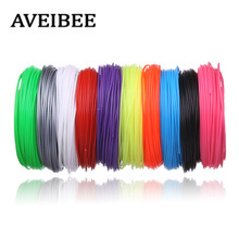 100 Meters 10 Color 3 D Material 1 75MM ABS Filaments For 3D Printing Pen Threads