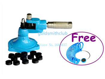 Jewelry Tools Ring Strecther +(Free) 1pc Ring gauge , Ring sizing Machine , Jewelry ring tools with 14 knurls