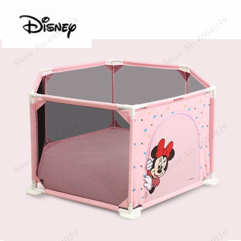 Disney Minnie Playpen For Children Playpen Pool Balls Baby Playpen For 0-6 Years Baby Fence Kids PP Tent Ball Pool