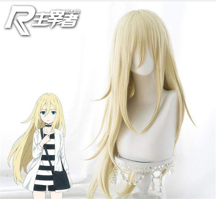 Angels of Death Rachel Gardner Ray Cosplay wigs Long Straight Blonde Cosplay Wig Anime A387