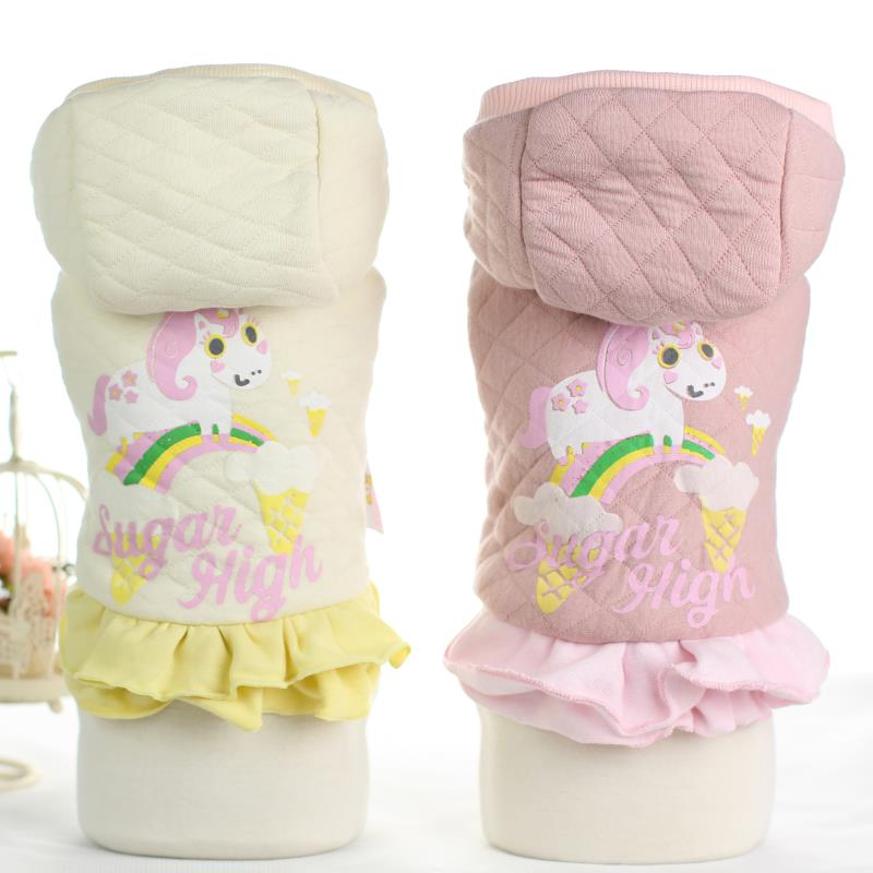Dog Coats Princess Horse Rainbow Thick Downs Jackets Chihuahua Clothing For Dogs Puppy Dog Cat Pet Clothes Apparel