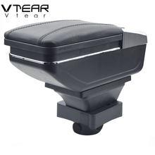 Vtear-Caja apoyabrazos para Citroen C4, compartimento de almacenamiento central, productos de soporte, decoración interior de coche, piezas de accesorios