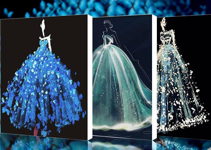 5d 50 * 60cm hochzeitskleid diamant malerei neue art 26 reflexion - Kunst, Handwerk und Nähen