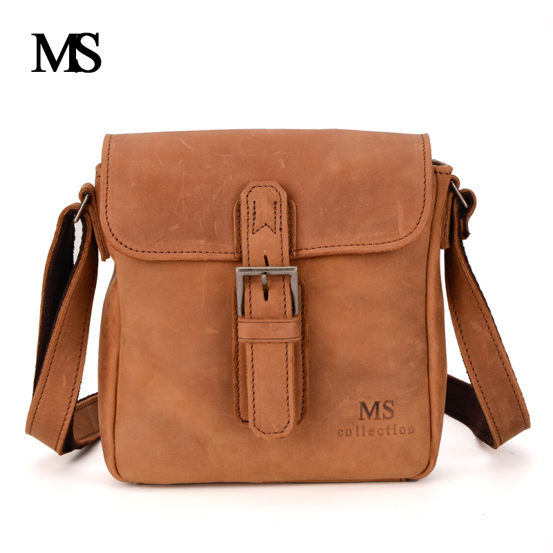 MS Crazy Horse Genuine Leather Men Bag Men's Leather Bag Men Messenger Bags Shoulder Crossbody Bags Man Handbag Briefcase TW2016 ms crazy horse genuine leather men bag men s leather bag men messenger bags shoulder crossbody bags man handbag briefcase tw2011